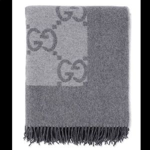 Cashmere wool gray Gucci blanket
